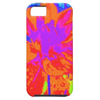 Estampado de plores floral anaranjado brillante de iPhone 5 Case-Mate carcasa