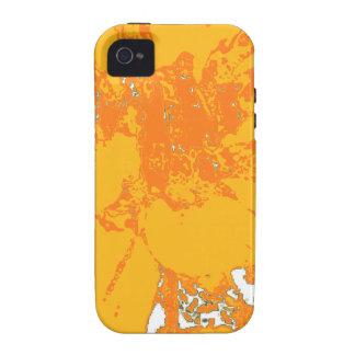 Estampado de plores floral anaranjado de la dalia Case-Mate iPhone 4 carcasas