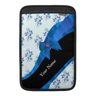 Estampado de plores floral azul bonito funda  MacBook