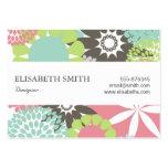 Estampado de plores floral bonito colorido tarjetas de visita grandes