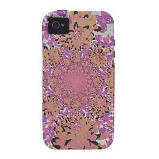 Estampado de plores floral de color de malva de la iPhone 4 carcasa