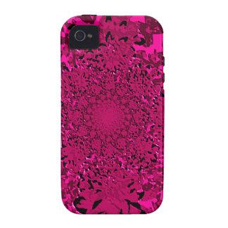 Estampado de plores floral de la dalia de las iPhone 4/4S carcasas