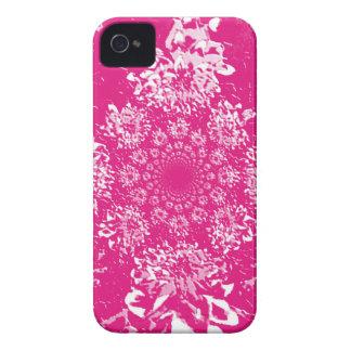 Estampado de plores floral de la dalia de las iPhone 4 Case-Mate carcasa