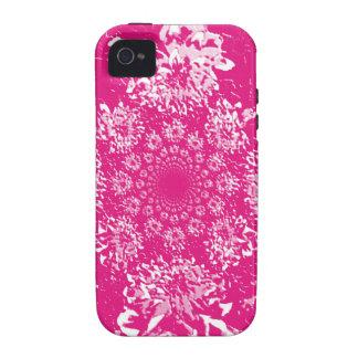 Estampado de plores floral de la dalia de las Case-Mate iPhone 4 carcasa