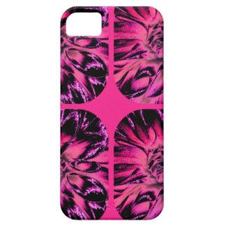 Estampado de plores floral de la dalia del collage iPhone 5 Case-Mate funda