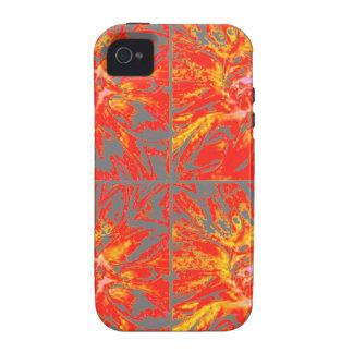 Estampado de plores floral de la dalia del collage Case-Mate iPhone 4 carcasas