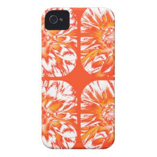 Estampado de plores floral de la dalia del collage iPhone 4 Case-Mate funda
