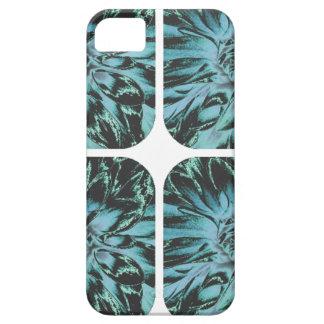Estampado de plores floral de la dalia del collage iPhone 5 funda