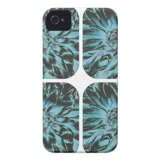 Estampado de plores floral de la dalia del collage Case-Mate iPhone 4 fundas