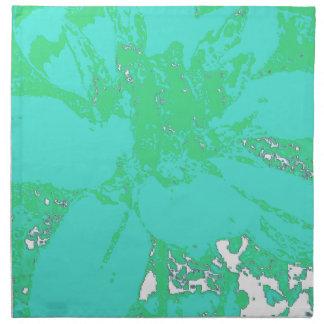 Estampado de plores floral de la dalia del servilleta imprimida