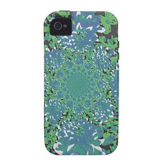 Estampado de plores floral de la dalia del trullo vibe iPhone 4 funda