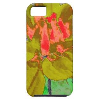 Estampado de plores floral de la dalia del verde iPhone 5 Case-Mate carcasa
