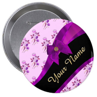 Estampado de plores floral del vintage de color de chapa redonda 10 cm