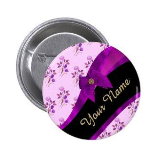 Estampado de plores floral del vintage de color de chapa redonda 5 cm