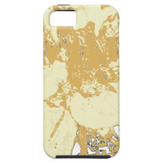 Estampado de plores floral elegante de la dalia iPhone 5 Case-Mate coberturas