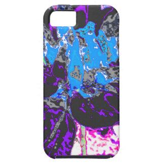 Estampado de plores floral negro de la dalia iPhone 5 Case-Mate fundas