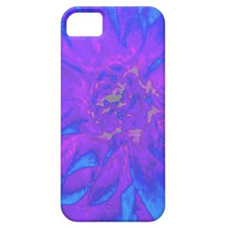 Estampado de plores floral púrpura azul de la iPhone 5 Case-Mate cobertura