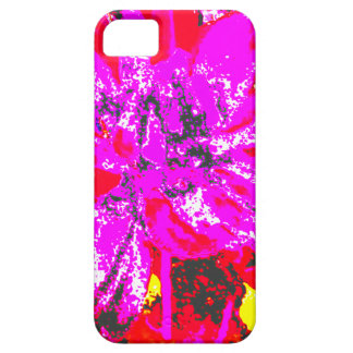 Estampado de plores floral rojo magenta de la iPhone 5 Case-Mate fundas