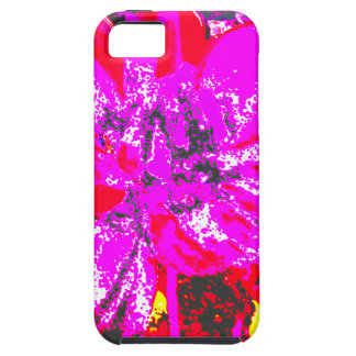 Estampado de plores floral rojo magenta de la iPhone 5 coberturas