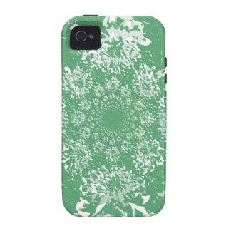 Estampado de plores floral verde abstracto de la iPhone 4/4S carcasas