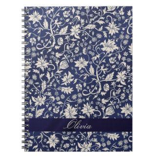 Estampado de plores inconsútil notebook