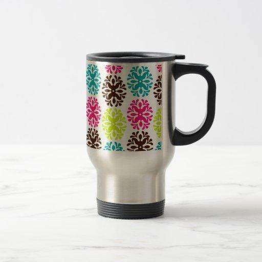 Estampado de plores lindo femenino floral del dama tazas de café