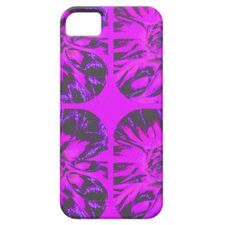 Estampado de plores púrpura de la dalia del iPhone 5 carcasas
