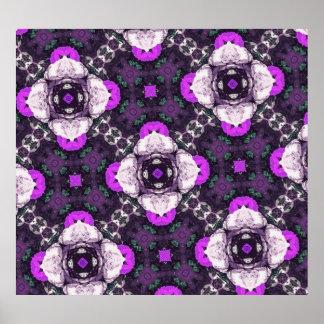 Estampado de plores púrpura poster