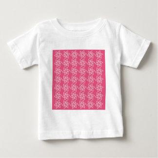 Estampado de plores rizado - blanco en rosa oscuro tshirts