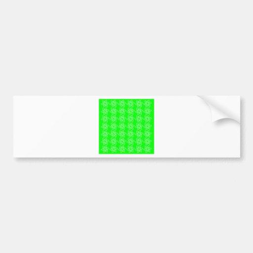 Estampado de plores rizado - blanco en verde eléct pegatina de parachoque
