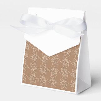 Estampado de plores rizado - marrón claro en Brown Paquetes De Regalo Para Bodas