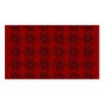 Estampado de plores rizado - negro en rojo oscuro plantillas de tarjetas de visita