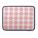 Estampado de plores rizado - rojo en blanco fundas para macbook pro