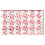 Estampado de plores rizado - rojo en blanco soportes para tarjetas de mesa