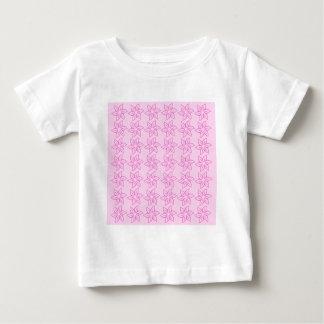 Estampado de plores rizado - rosa oscuro en rosa t-shirts