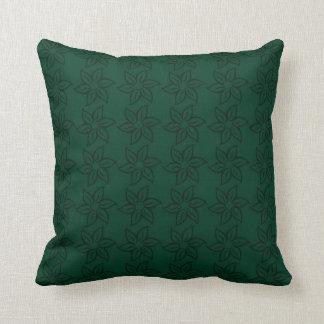 Estampado de plores rizado - verde oscuro en verde cojín