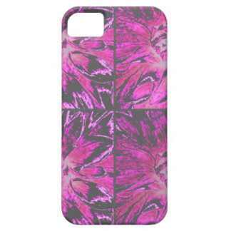 Estampado de plores rosado de la dalia del collage iPhone 5 carcasa