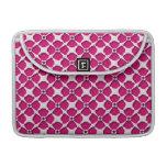 Estampado de plores rosado femenino retro funda macbook pro