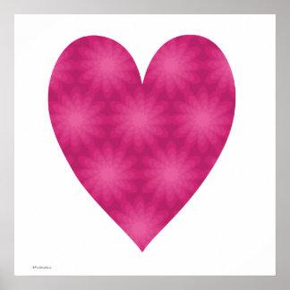 Estampado de plores rosado posters