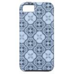 Estampado de plores simple, en azul claro iPhone 5 Case-Mate cobertura