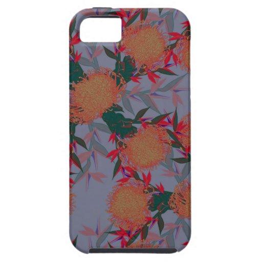 Estampado de plores tropical vibrante iPhone 5 coberturas