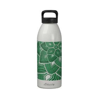 Estampado de plores verde botellas de agua reutilizables
