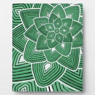 Estampado de plores verde placas con fotos