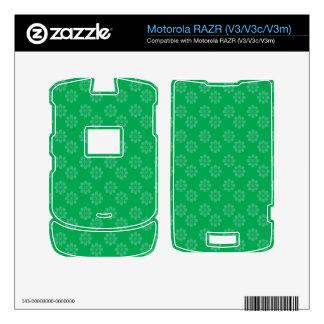 Estampado de plores verde motorola RAZR skins