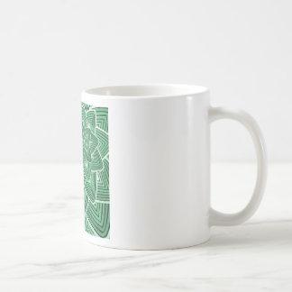 Estampado de plores verde taza