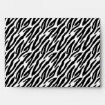 estampado de zebra 5x7 fuera del sobre interior de