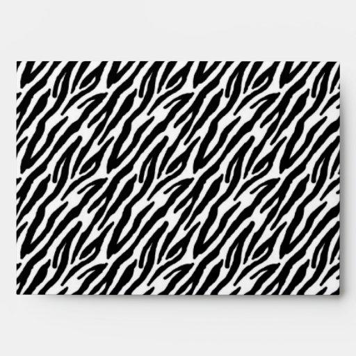 estampado de zebra 5x7 fuera del sobre interior ro