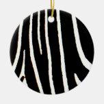 Estampado de zebra adornos