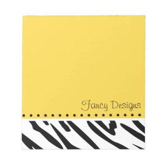 Estampado de zebra anaranjado blocs de notas