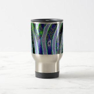 Estampado de zebra azul taza de viaje